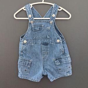 Faded Glory denim overalls/shortalls